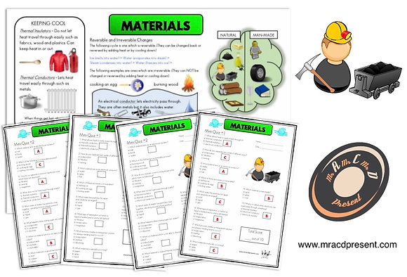 Materials (Year 5) - Knowledge Organiser and Mini-Quizzes