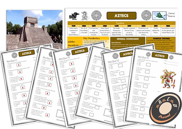 Aztecs - Knowledge Organiser and Mini-Quizzes