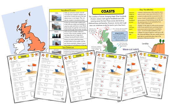 Coasts - Knowledge Organiser and Mini-Quizzes