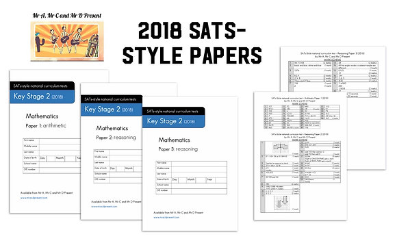 SATs-Style Maths Paper (Based on 2018)