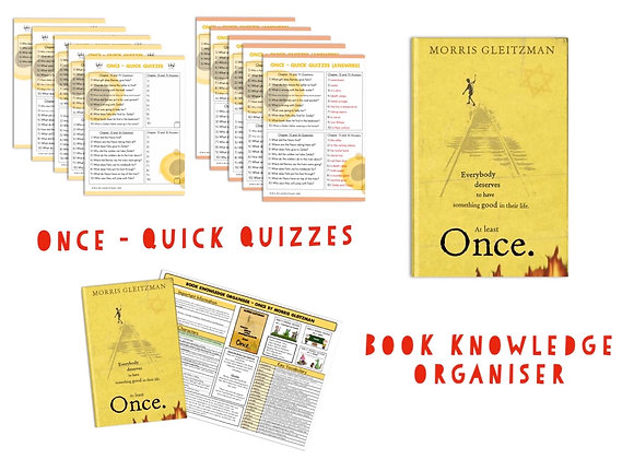 Once - Book Knowledge Organiser and Quick Quizzes