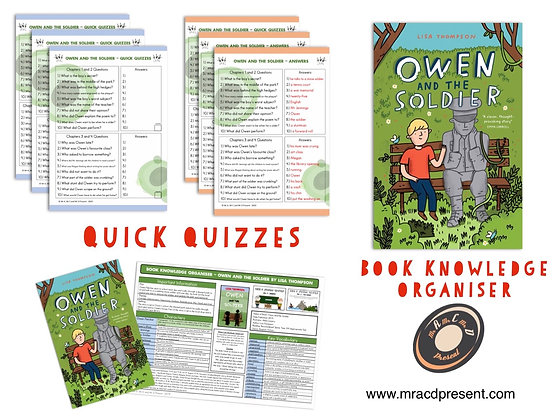 Owen and the Soldier - Book Knowledge Organiser and Quick Quizzes
