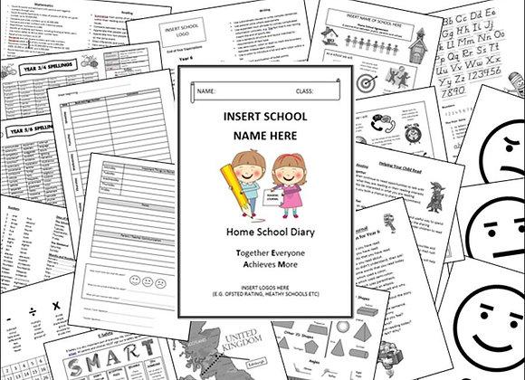 KS2 Home School Reading Diary