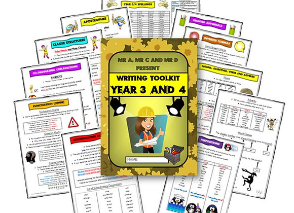 Year 3 and 4 Writing Knowledge Organiser / Toolkit