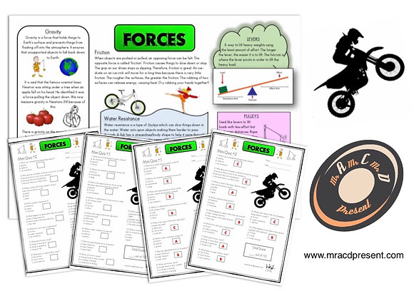 Forces (Year 5) - Knowledge Organiser and Mini-Quizzes