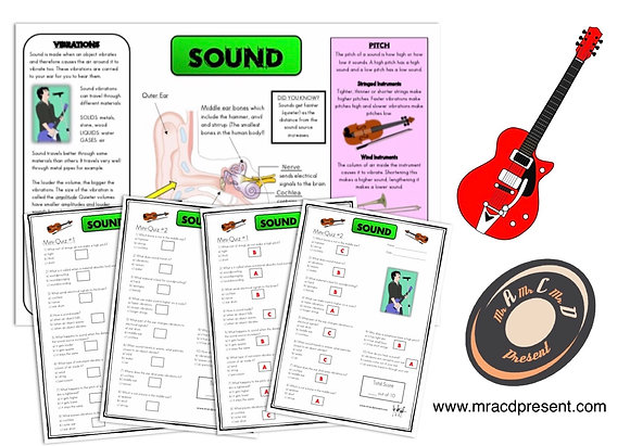 Sound (Year 4) - Knowledge Organiser and Mini-Quizzes