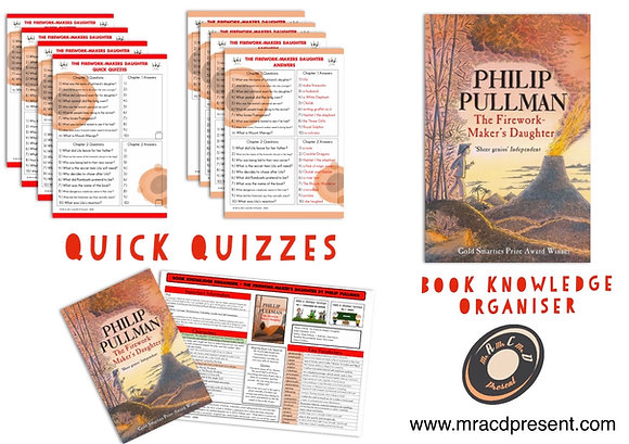 The Firework Maker's Daughter - Knowledge Organisers and Mini-Quizzes