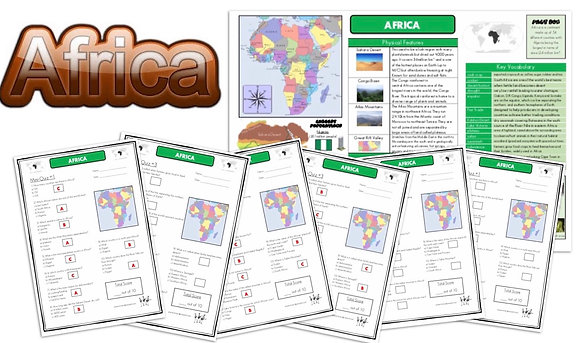 Africa - Knowledge Organisers and Mini-Quizzes
