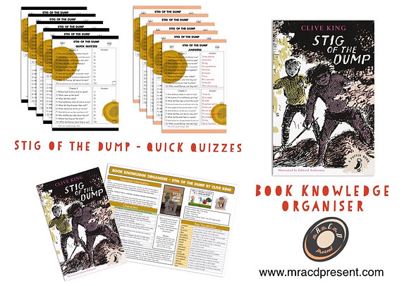 Stig of the Dump - Book Knowledge Organiser and Quick Quizzes