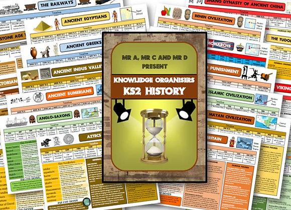 BUNDLE - KS2 History Knowledge Organiser Pack