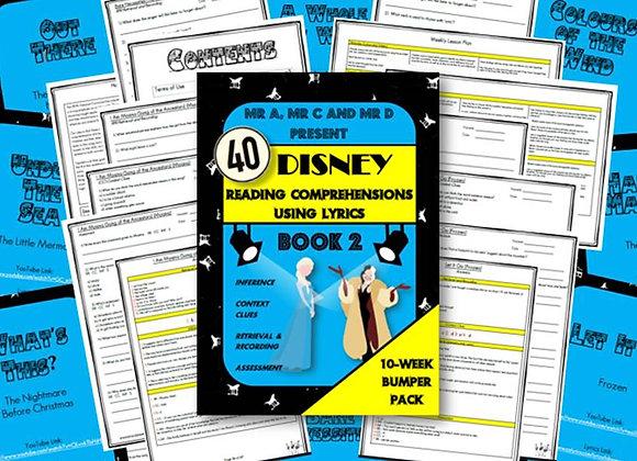 40 Disney Lyric Reading Comprehensions - Book 2