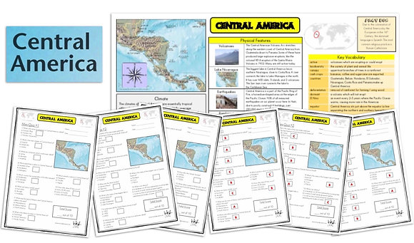 Central America - Knowledge Organiser and Mini-Quizzes
