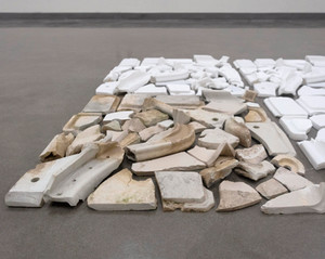 "Kaitlyn Jo Smith In Mass Porcelain, dirt, pva 65""x x 63"" 2019"
