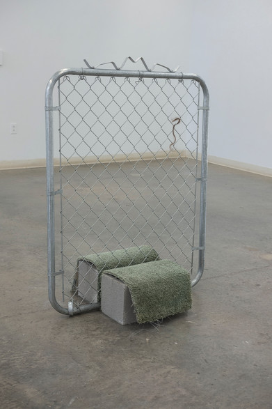 Kacey Slone This Feeling Is a Place childhood bedroom carpet, gate, hair, concrete 3 ft x 4 ft 2021