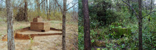 "JP Snyder ""Site and Structure"" 2018  My work renders what I perceive as the truest depiction of landscape--an amalgamation of inherent wilderness happenings and major human interventions or more simply put a series of actions and marks. Through this blurred combination of contrasting elements, we are left with a space that we have come to call nature. In my sculptures and drawings, I seek out processes and materials that intimately interact with both my mind and body to achieve a greater understanding of my current locality."