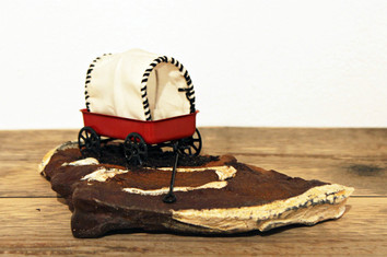 Stacey Rathert Steakscape: Chuck Wagon Cast iron chuck steak, found objects, dirt, adhesive 4 x 8 x 5 inches 2015