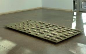 Kacey Slone A Long Goodbye childhood bedroom carpet, concrete, wood 4 ft x 6 ft 2021