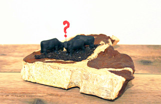 Stacey Rathert Steakscape: Have You Guys Seen Gary?! Cast iron t-bone steak, found objects, dirt, adhesive 3 x 7 x 8 inches 2015