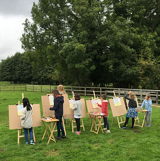 fine art for children, art education for children, en plein air painting, children painting outside, art class for children in Norwich, fine art classes for children in Norwich