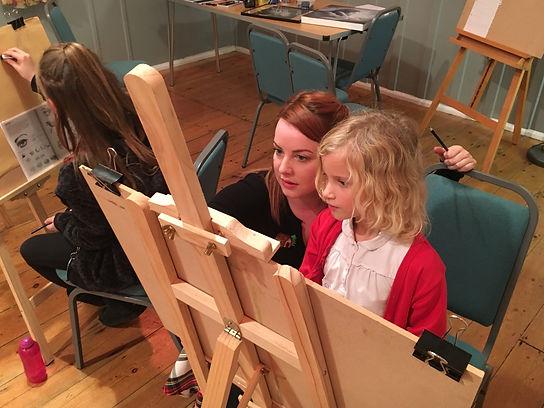 paint, portraiture, oil paint techniques, norwich childrens art classes,