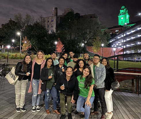 World Mental Health Day 2019, City of Yonkers Clock Tower Lit Green for Mental Health Awareness