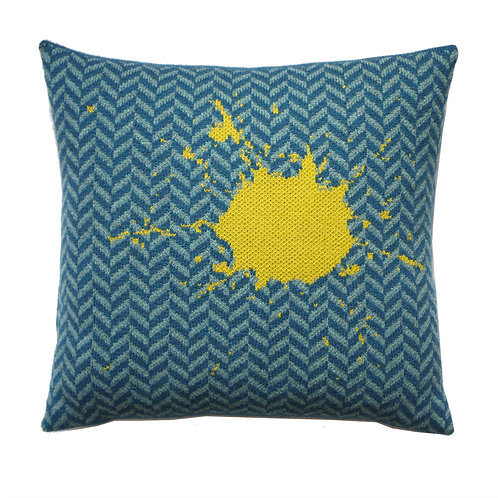 HERRINGBONE  SPLAT CUSHION
