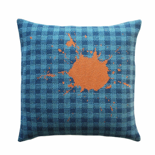GINGHAM SPLAT CUSHION