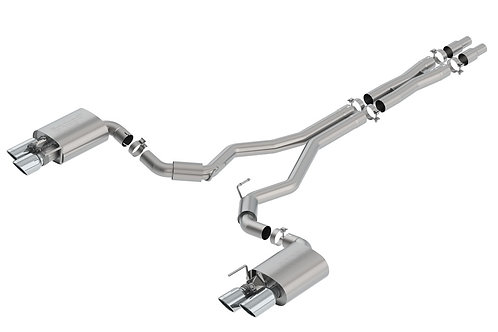 2018+ Borla S-type Cat-Back Exhaust w/valves (chrome tips)