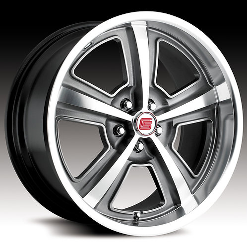 "Carroll Shelby Wheel Co. 18"" CS69 Chrome - Anthracite"