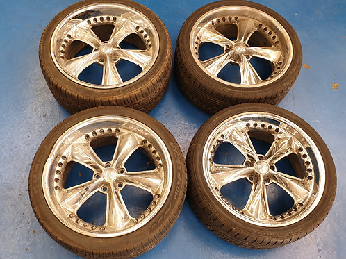 "Foose Gothic 17"" 5-spoke Wheels"