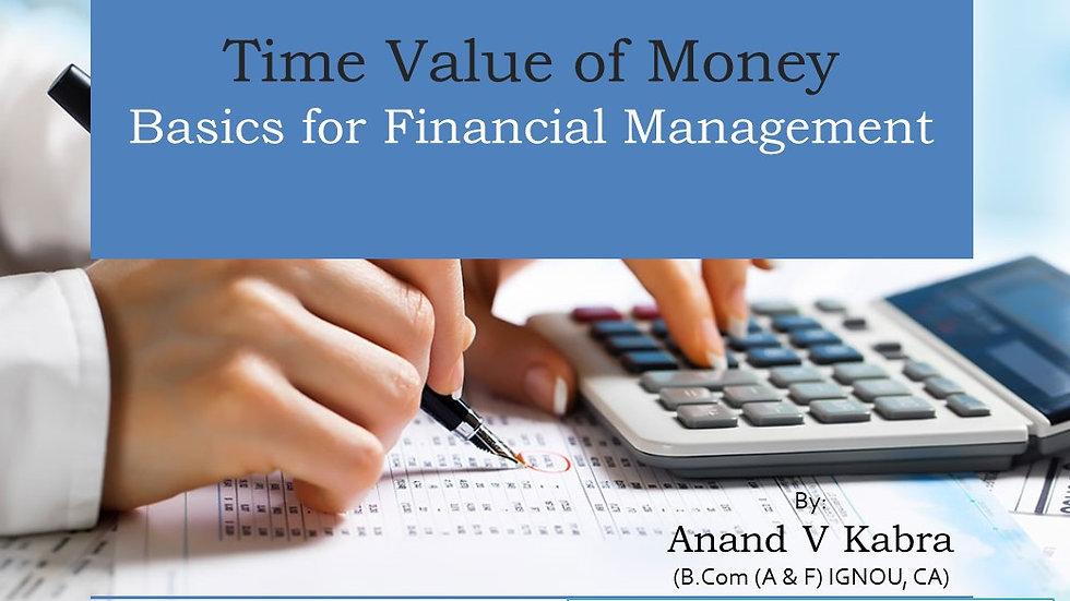 Time Value Of Money - Basics Illustrations