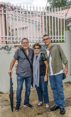 With the writer Magali García Ramis