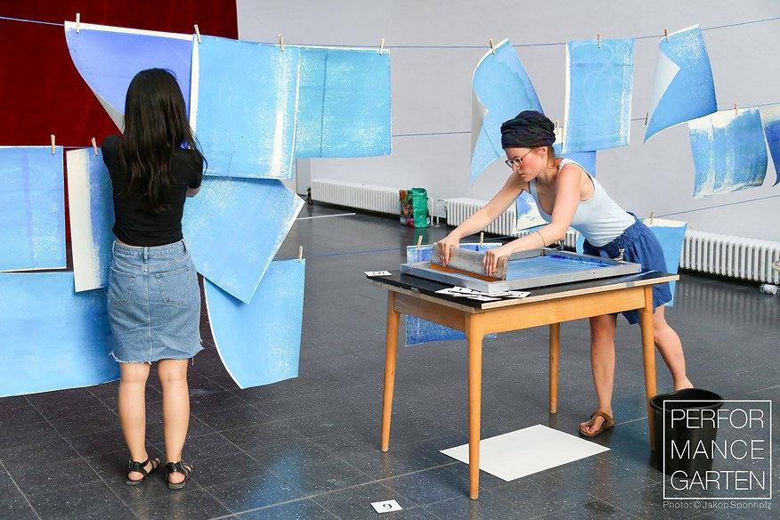 Performace blau drucken, Performance Garten 2017