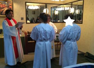 若い姉妹の洗礼式がありました