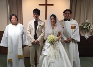 結婚式がありました。