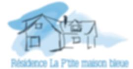 Logo de la résidence La P'tite maison bleue, service de répit pour personnes avec une déficience intellectuelle.