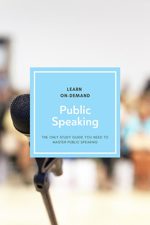 Learn College Public Speaking
