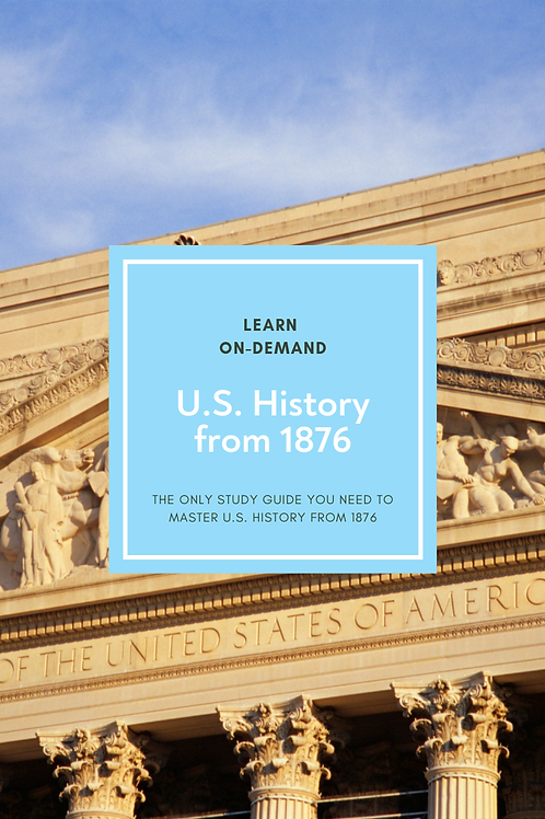 Learn College U.S. History to 1876