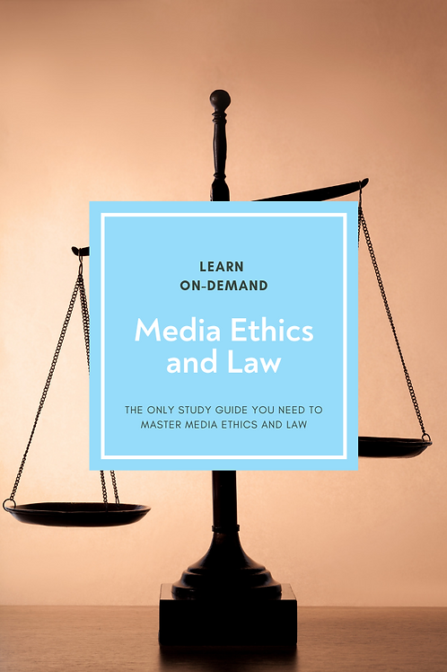 Learn College Media Ethics and Law