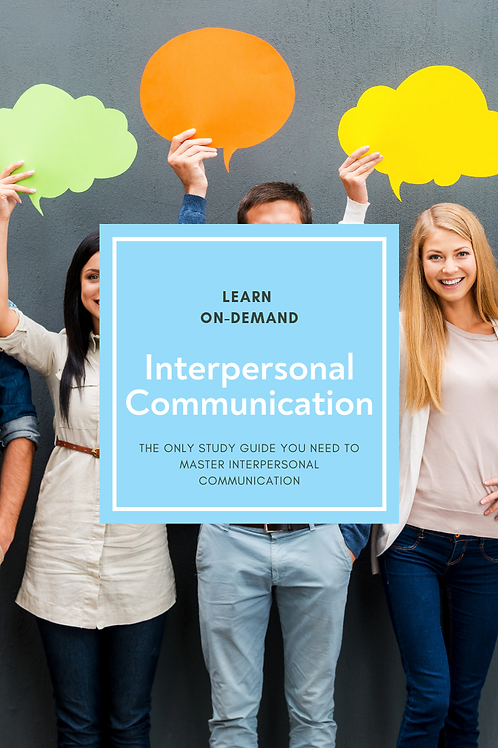 Learn College Interpersonal Communication