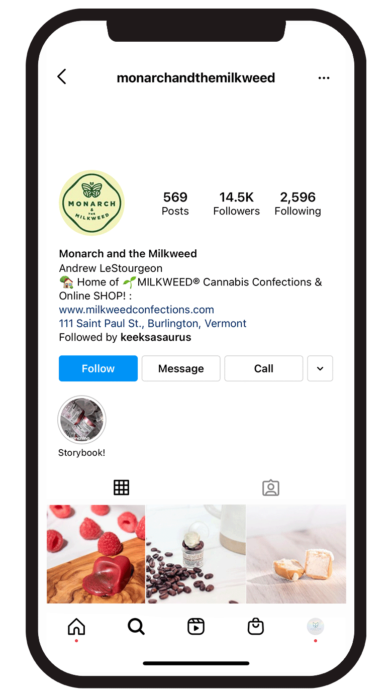 Milkweed Confections creates full-spectrum CBD infused, handmade treats. The confections are locally sourced and made in small batches all available to purchase online.