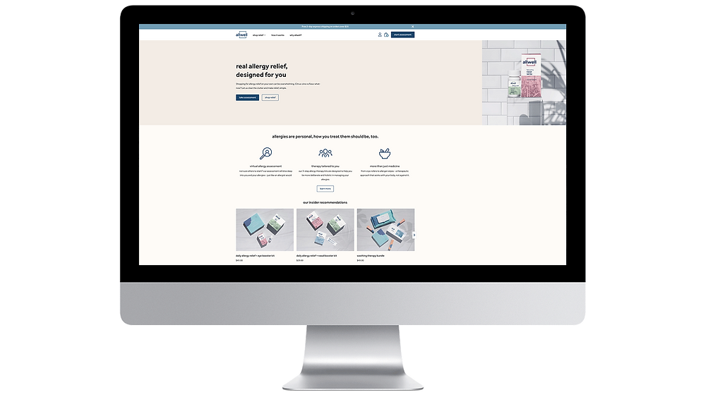 Allwell is an allergy reliefbrand thatexists to help navigate the world of medicine and create an experience that delivers true aid right to your doorstep.