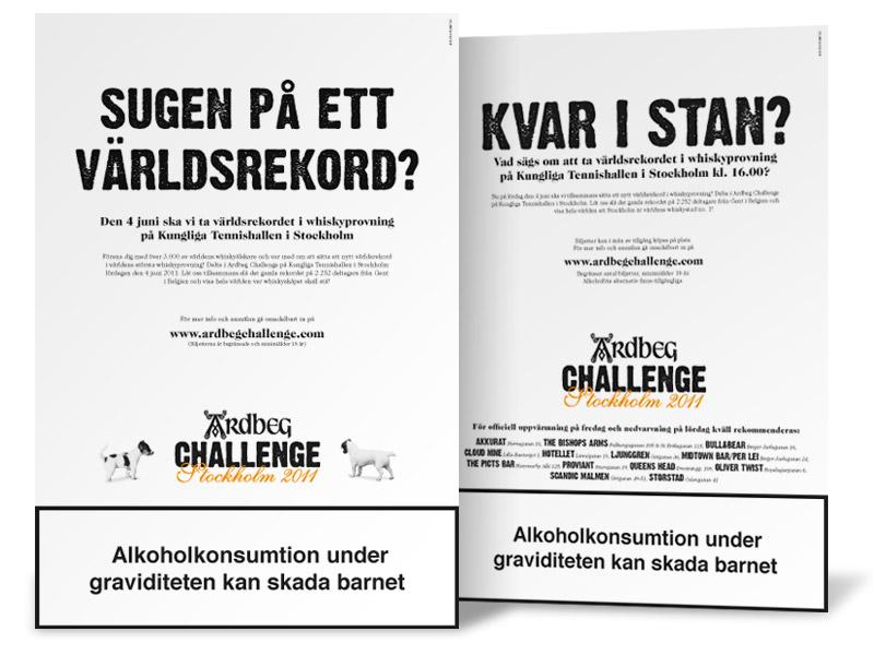 Design of Ardbeg ads