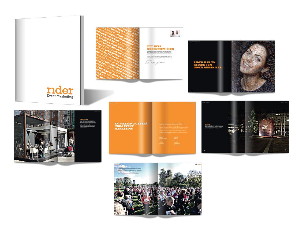 Design of book Rider eventmarketing
