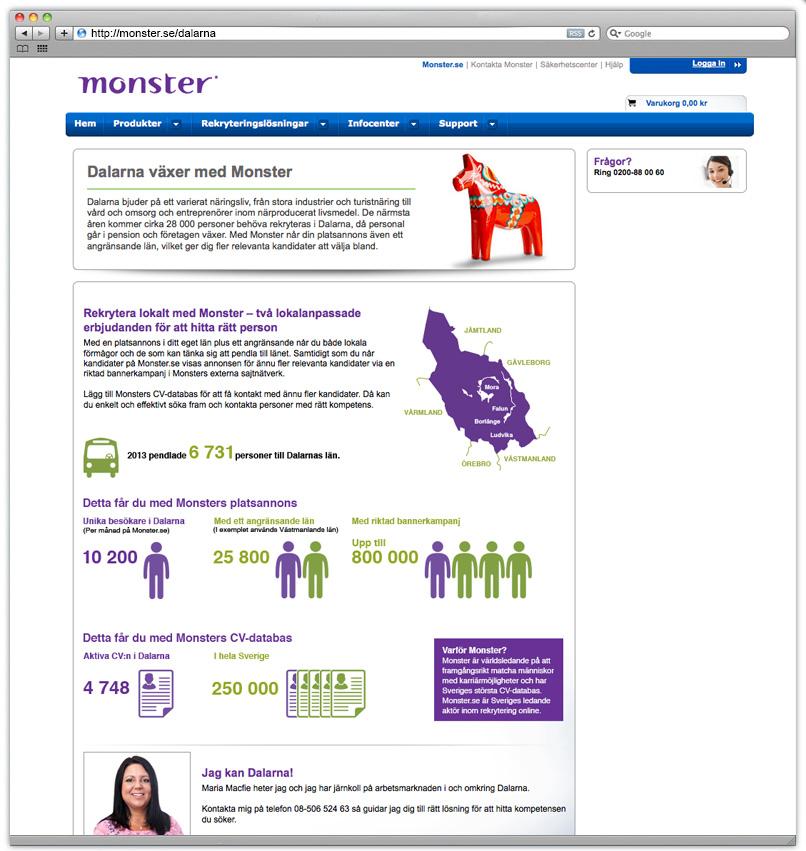 Design of images Monster.se