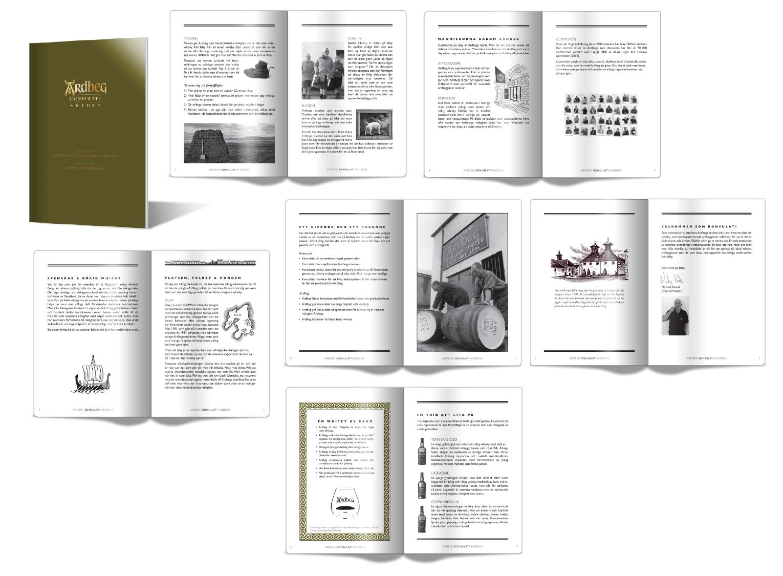 Design of Ardbeg consulate book