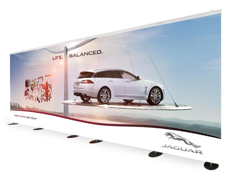 Production of backdrop Jaguar