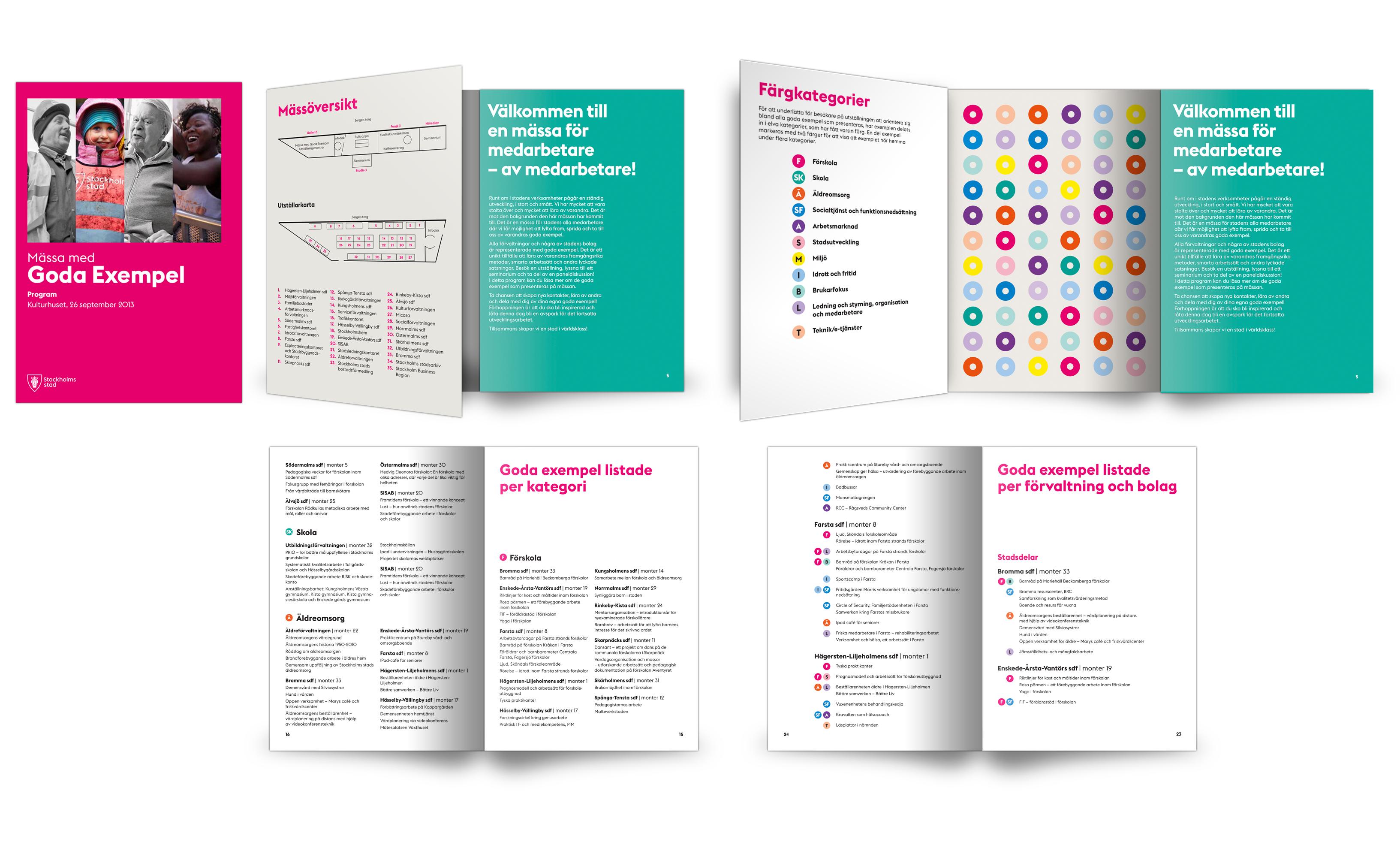 Design of booklet Goda mässan