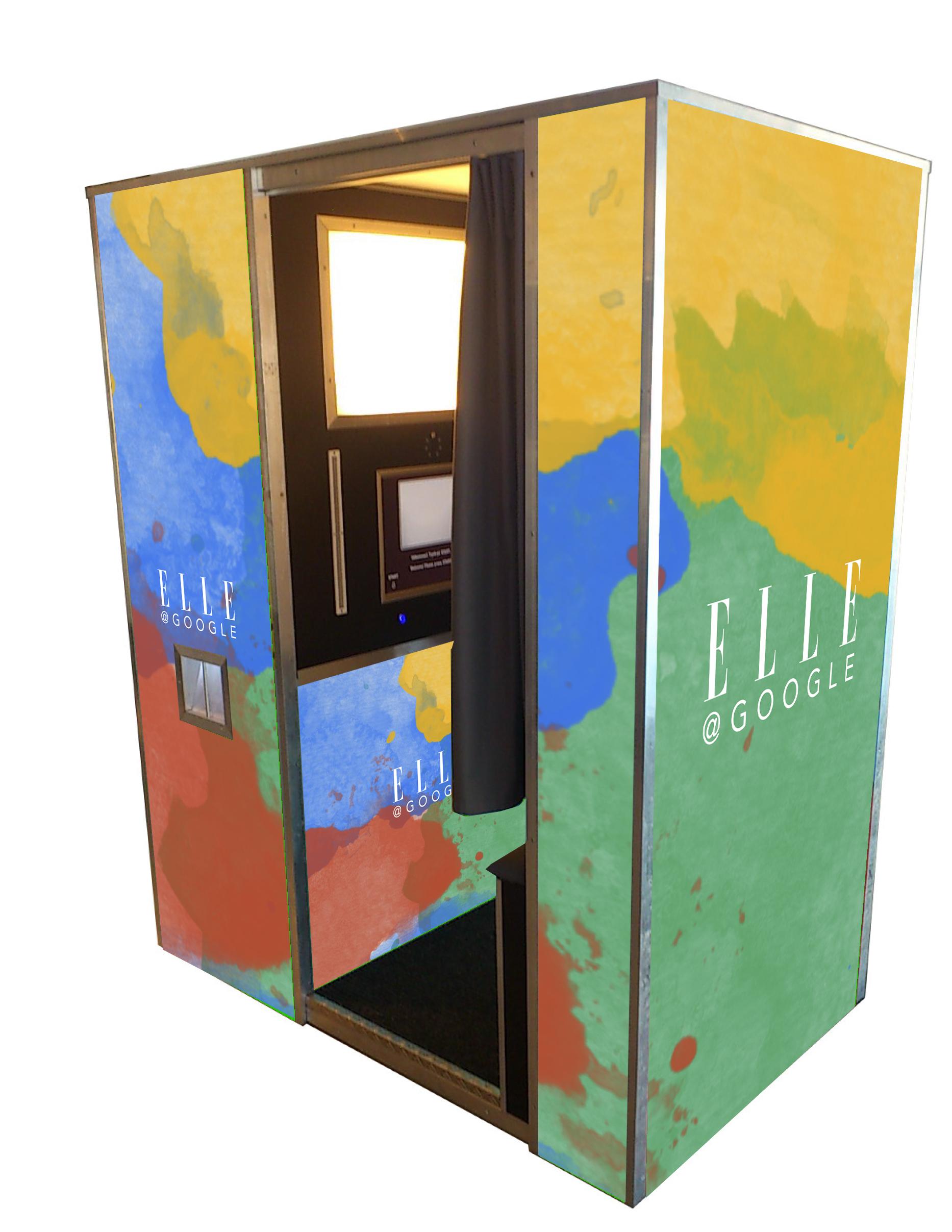 Production of photobooth Google/Elle