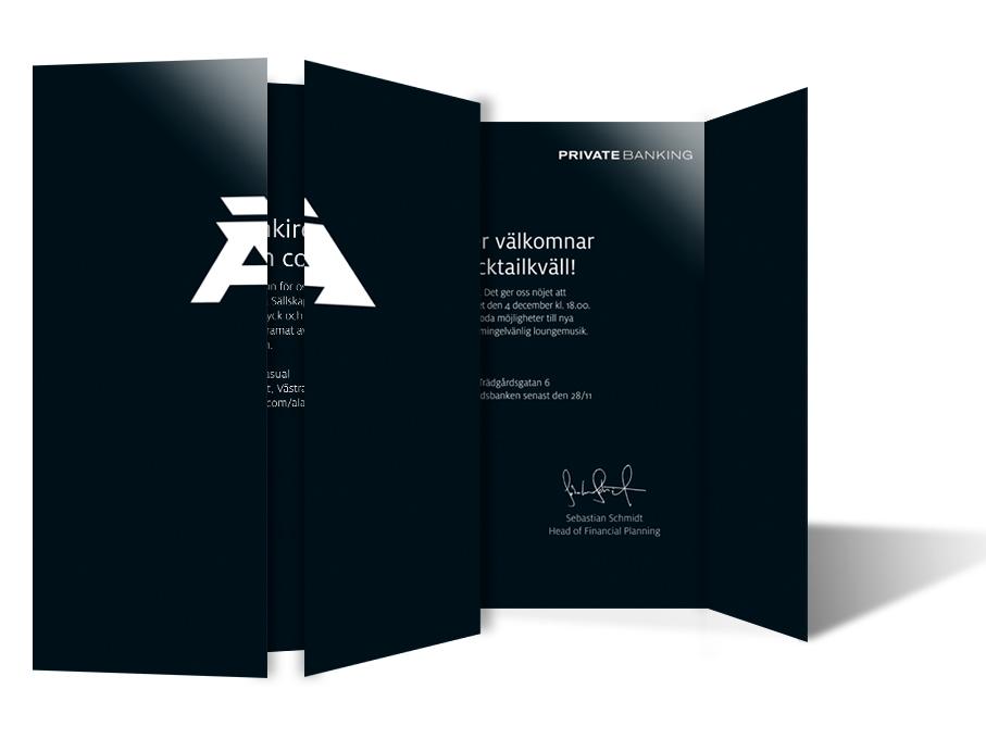 Design of Ålandsbanken invitation